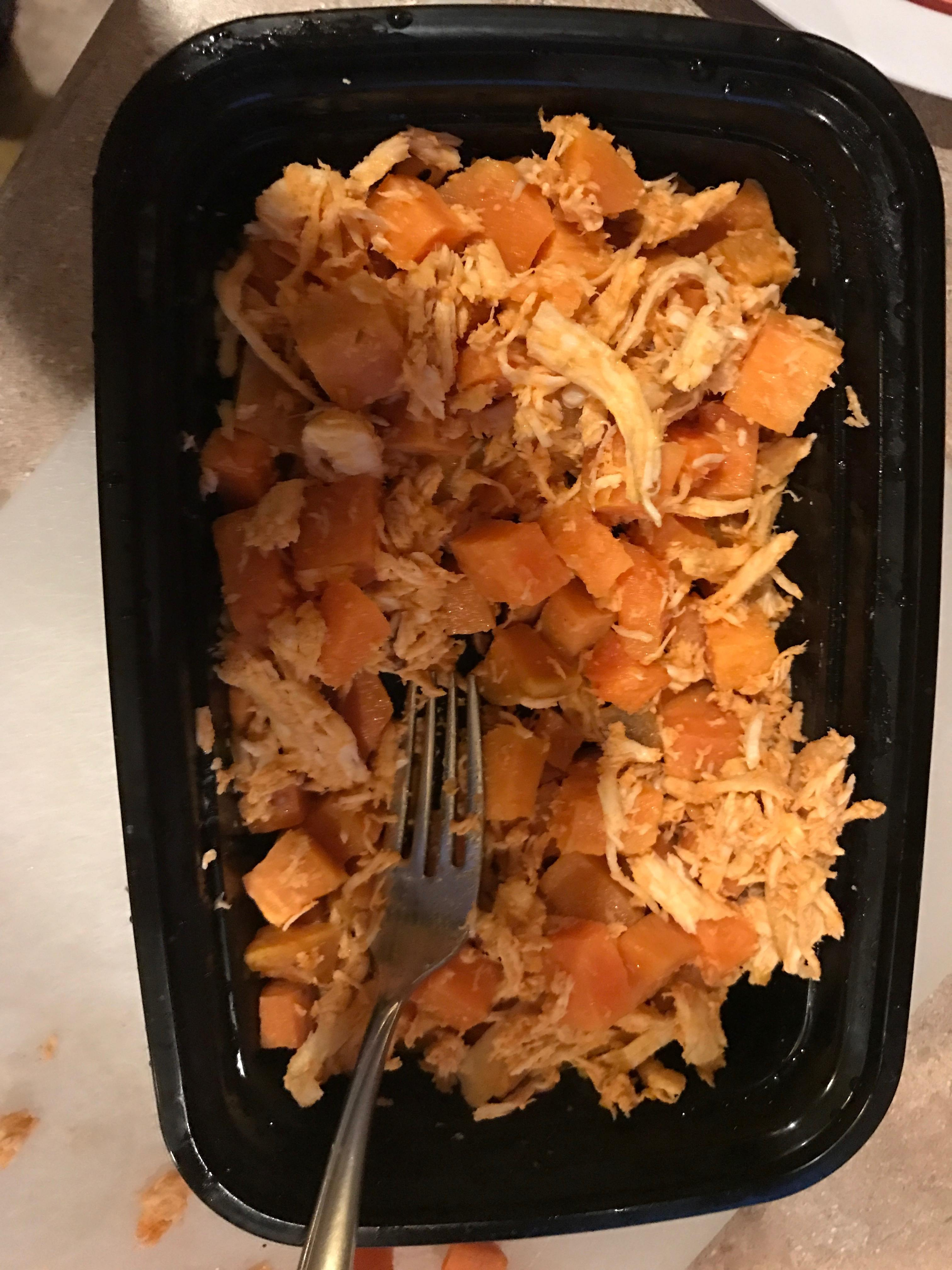 buffalo chicken and sweet potatoes
